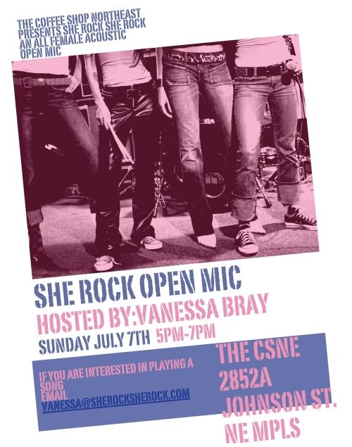 She Rock All-Female Acoustic Open Mic 7/7