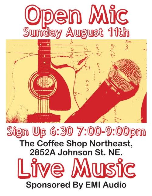 Open Mic Flyer August 11