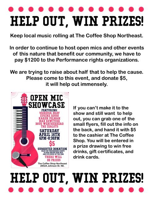 info open mic flyer